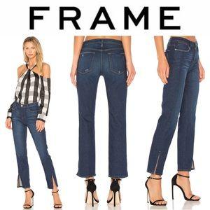 Frame Le High Straight Tuxedo Split Jeans